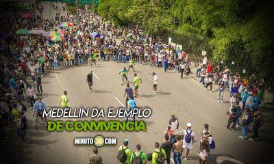Funcionarios del Inder Medellin y manifestantes jugaron partido