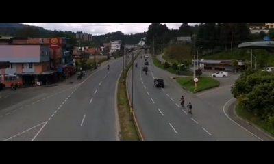 Despejada la vía Medellín - Bogotá a la altura de Guarne