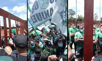 [Video] Explotó la hincada del Atlético Nacional ¡Tremenda recogida! le dieron a los jugadores