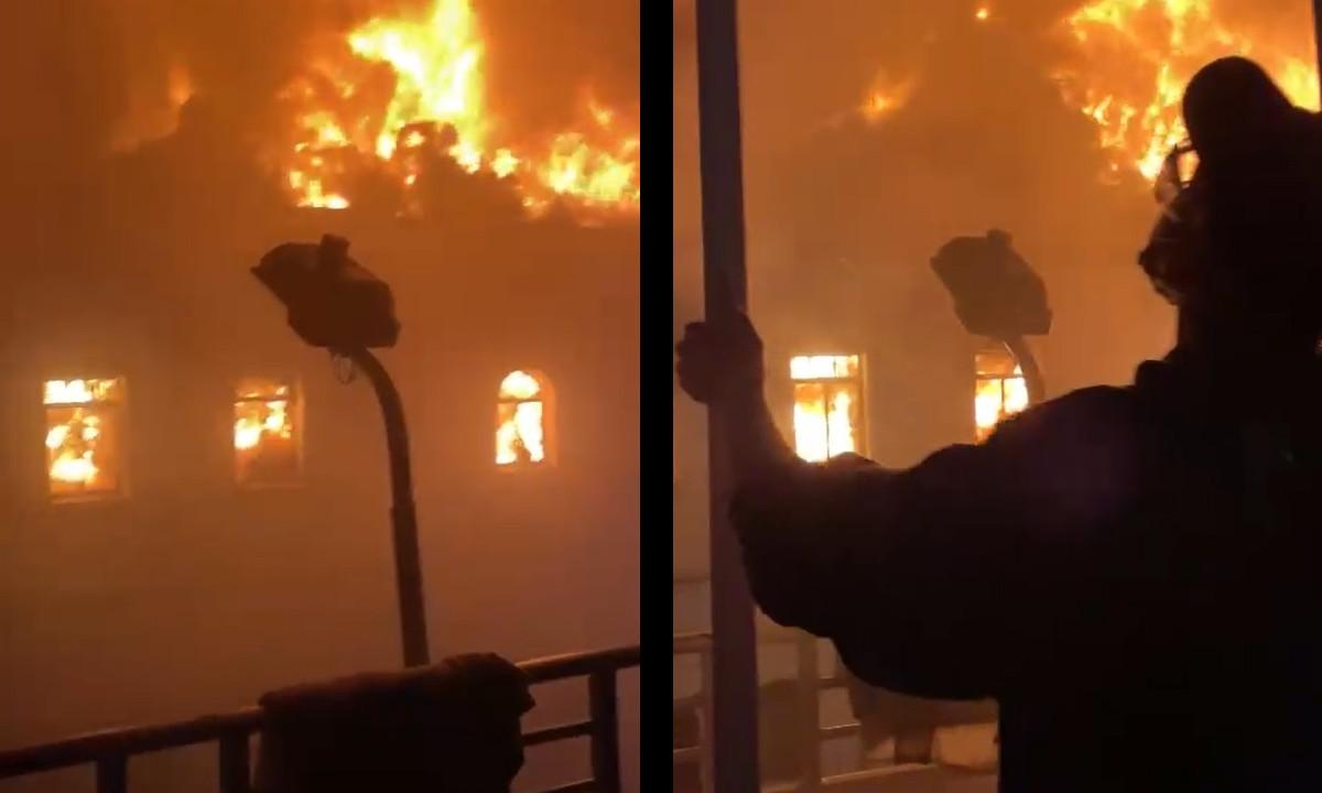 [Video] ¡Impresionante! Incendiaron el Palacio de Justicia de Tuluá