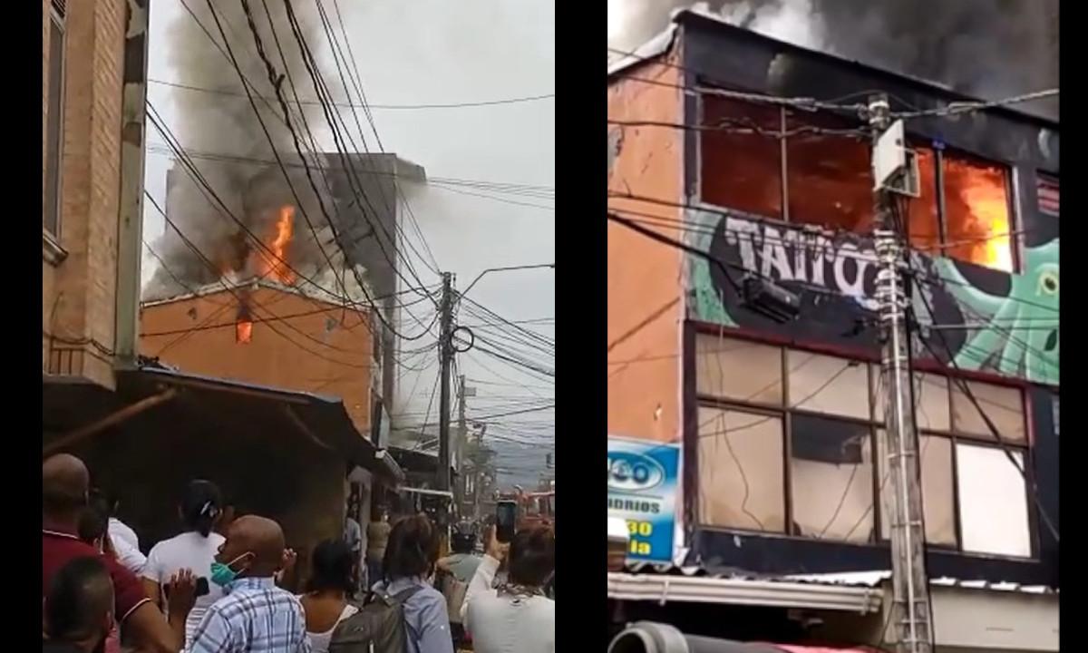 [Video] Incendio consume un local comercial en Apartadó, Antioquia