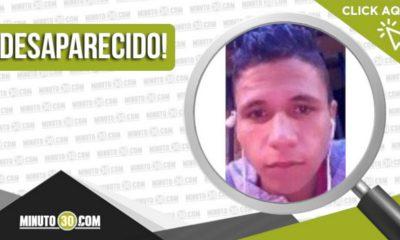 Jairo Alberto Ramírez Úsuga de 21 años está desaparecido