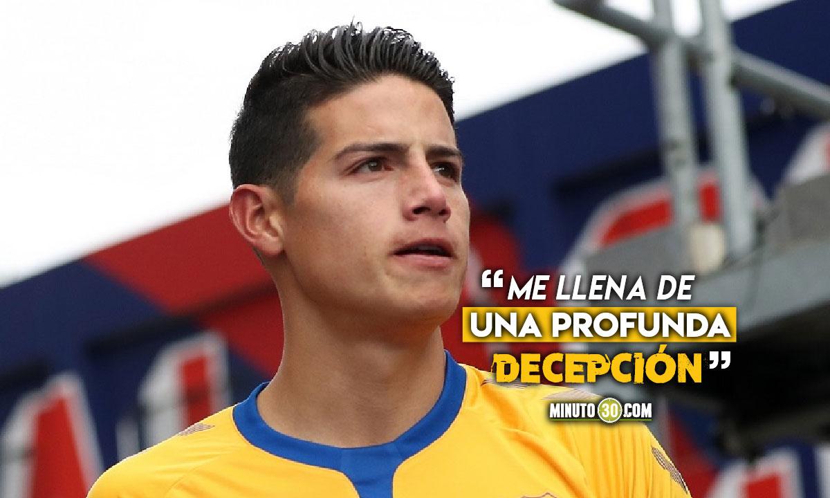 James Rodriguez molesto por exclusion de la Seleccion Colombia
