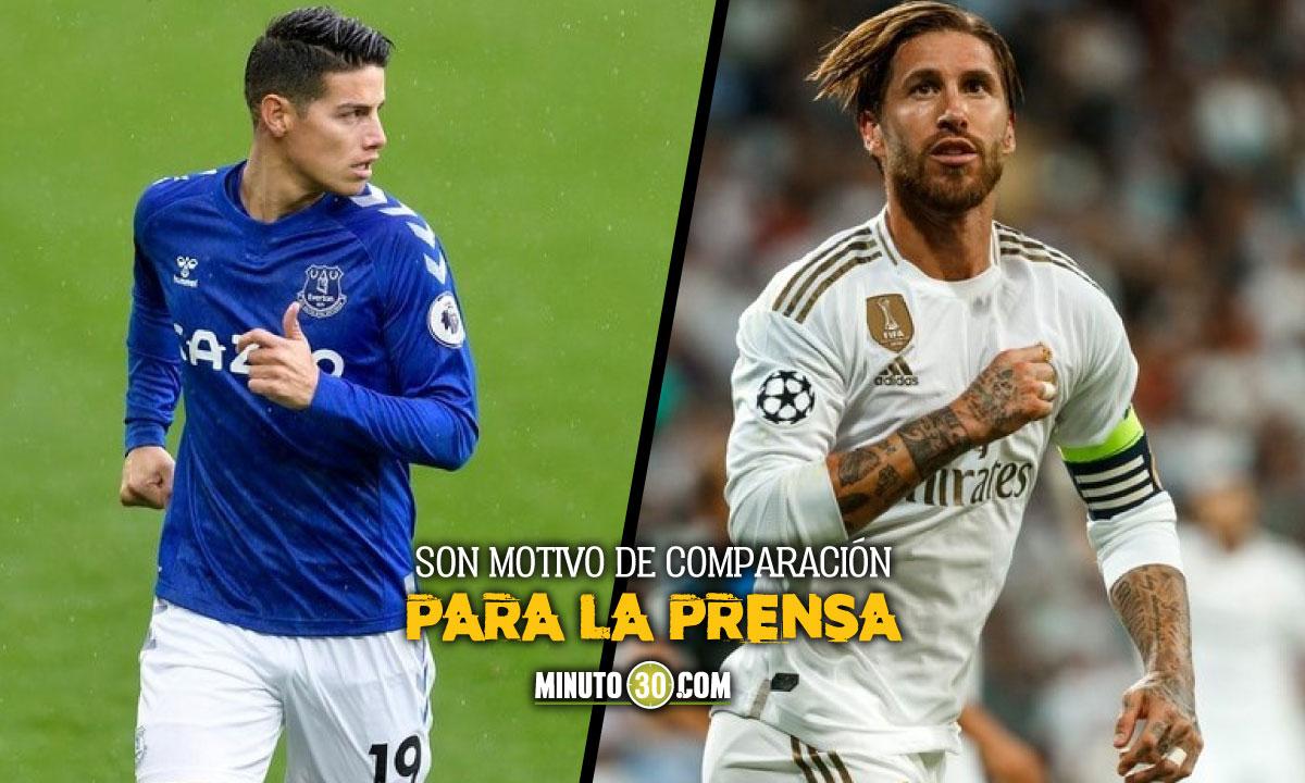 James Rodriguez y Sergio Ramos con contrastantes reacciones ante imposibilidad de jugar con sus selecciones
