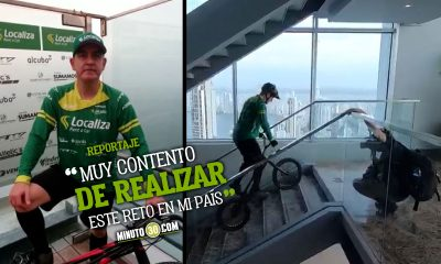 Javier Zapata compartio la alegria de haber logrado un nuevo record