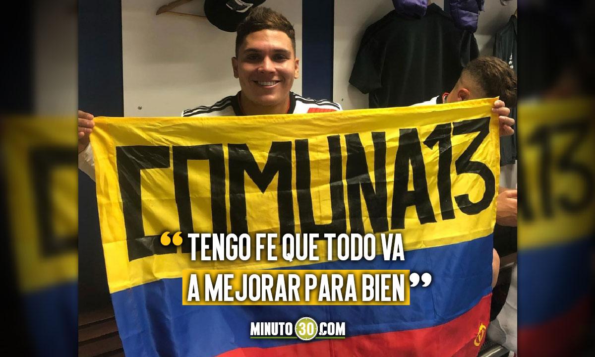 Juan Fernando Quintero tambien se expreso ante la situacion que vive Colombia