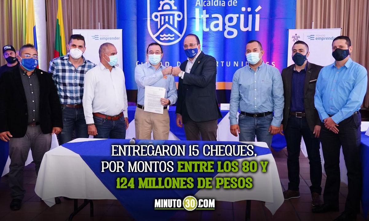 ¡Muy bueno! La Alcaldía de Itagüí y el SENA entregaron capital semilla a emprendedores de la localidad