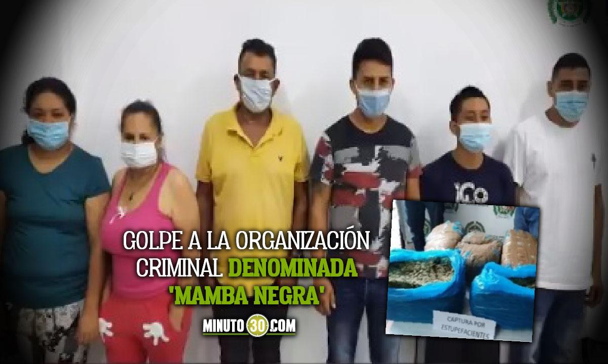 Cárcel para 7 presuntos integrantes de 'Mamba Negra'