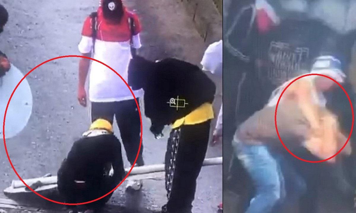 Dañan la señalética y golpearon a un hombre en Manizales