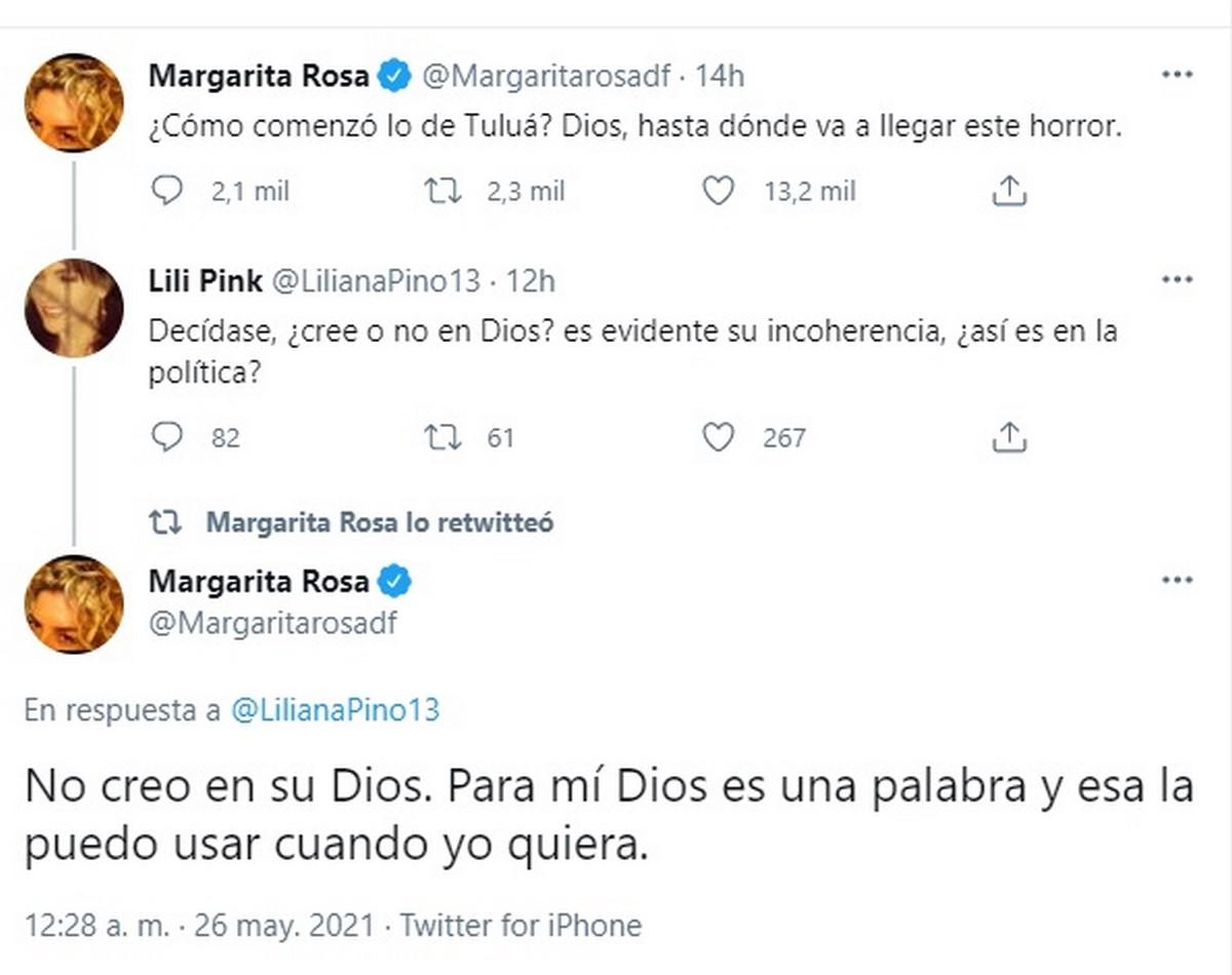 Margarita Rosa twitter