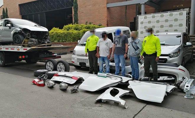 Medellín-desguazadero-automotores-robados