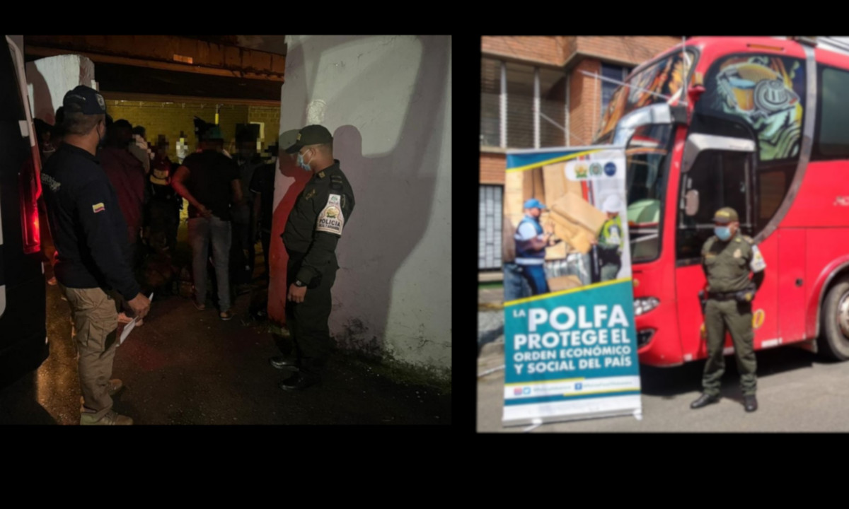 En Copacabana pillaron un bus repleto de migrantes que viajaban de forma ilegal