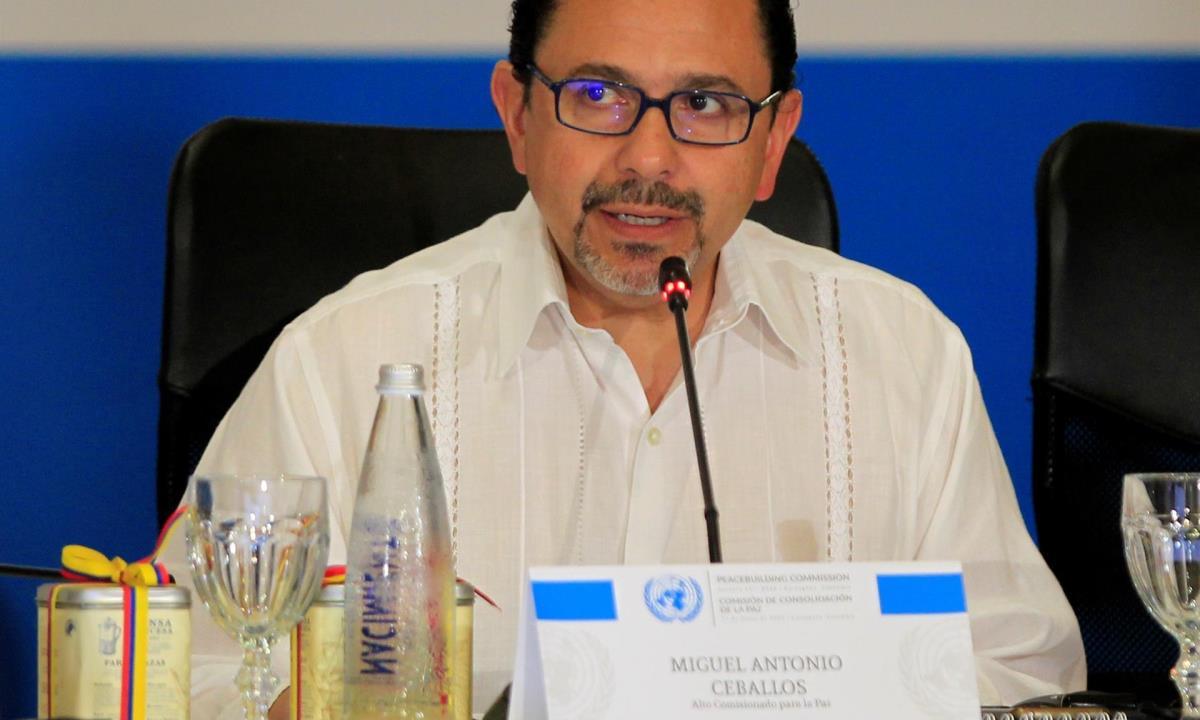 En la imagen el alto comisionado para la paz, Miguel Ceballos. EFE/ Ricardo Maldonado Rozo /Archivo