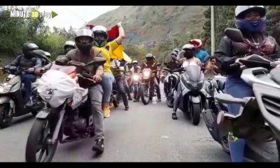 [Video] ¡Motociclistas también manifestaron! Fue un recorrido pacífico de más de 40 kilómetros