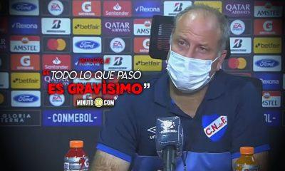 Nos hicieron jugar manifesto el entrenador de Nacional de Uruguay