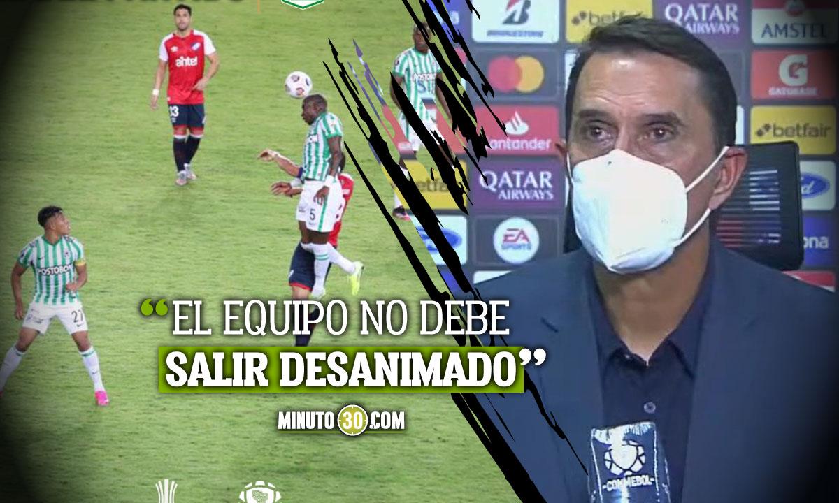 Para Alexandre Guimaraes fue bastante buena la actuacion de Atletico Nacional en Copa