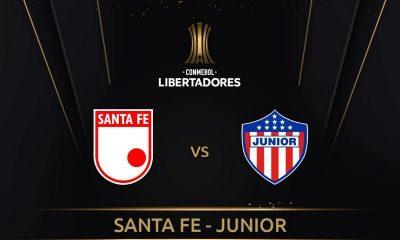 Partido de Copa Libertadores entre Santa Fe y Junior