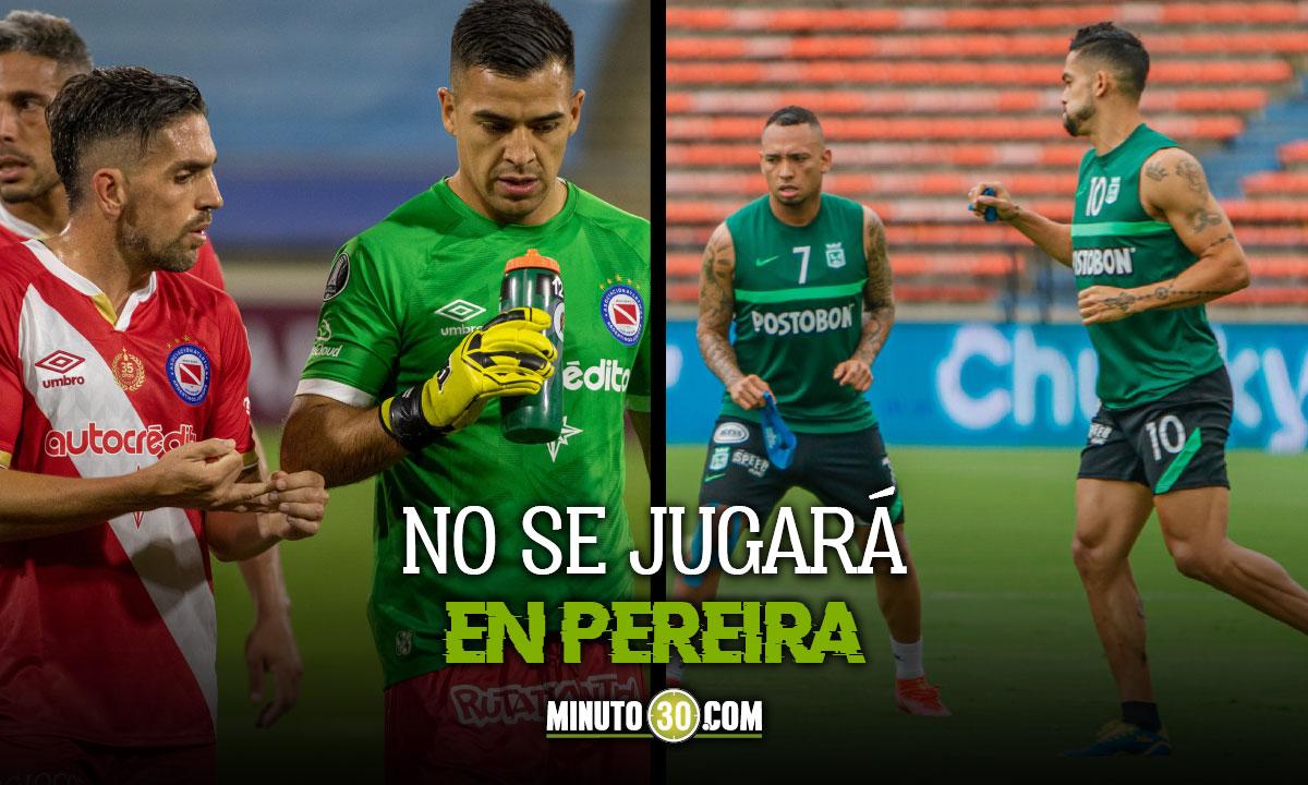 Partido entre Atletico Nacional y Argentinos con sede tentativa