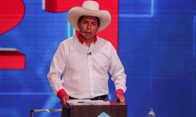 En la imagen, el candidato a la Presidencia de Perú por el partido Perú Libre, Pedro Castillo. EFE/Sebastián Castañeda/Pool/Archivo