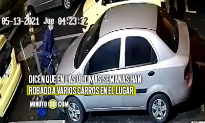 [Video] Pillan a un sujeto robando las partes de un carro en Belén