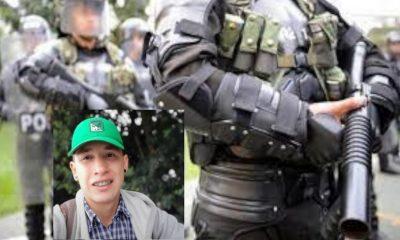 Policía-manifestante-Cundinamarca