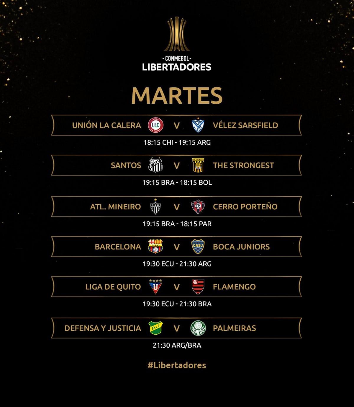 Programacion Copa Libertadores mayo 4 2