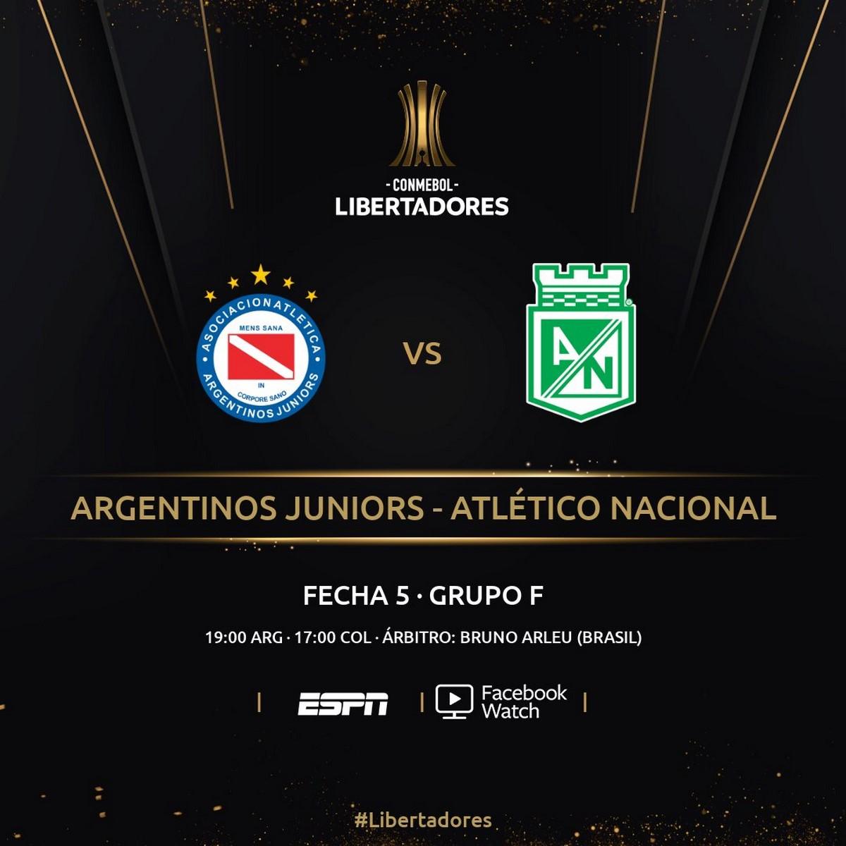Programacion jueves fecha 5 Copa Libertadores 2