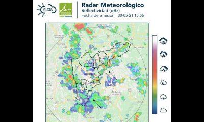 ¡Saque la sombrilla! El Siata registra nubes tormentosas y fuerte lluvias en el Valle de Aburrá