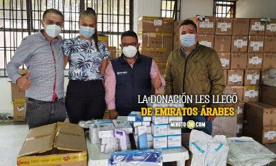 ¡Muy nobles! Rionegro recibió donación de insumos biomédicos y los compartió con otros 10 municipios