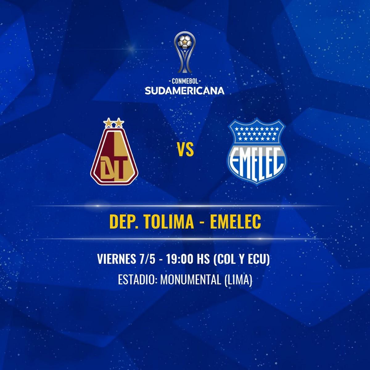 Se confirmo nueva sede y fecha para partido de Tolima en Copa Sudamericana