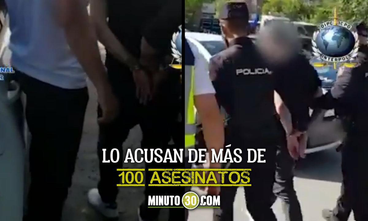 [Video] Presunto sicario colombiano fue capturado en Madrid, España