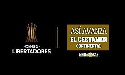 Tabla de posiciones grupos de la Copa Libertadores