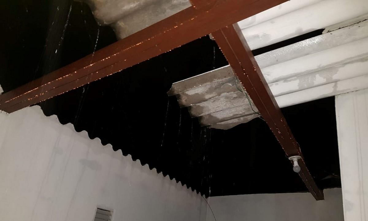 Vendaval dejó varias familias afectadas en Gómez Plata