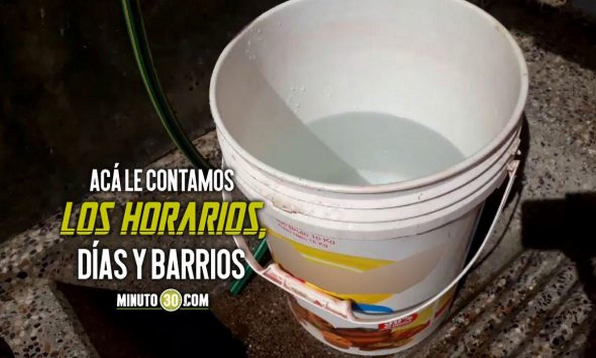 ¡Pilas! A recoger agua. Esta semana habrá interrupción de acueducto en Medellín, Bello e Itagüí