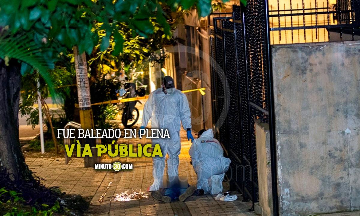 Anoche le dieron bala a un hombre en Prado