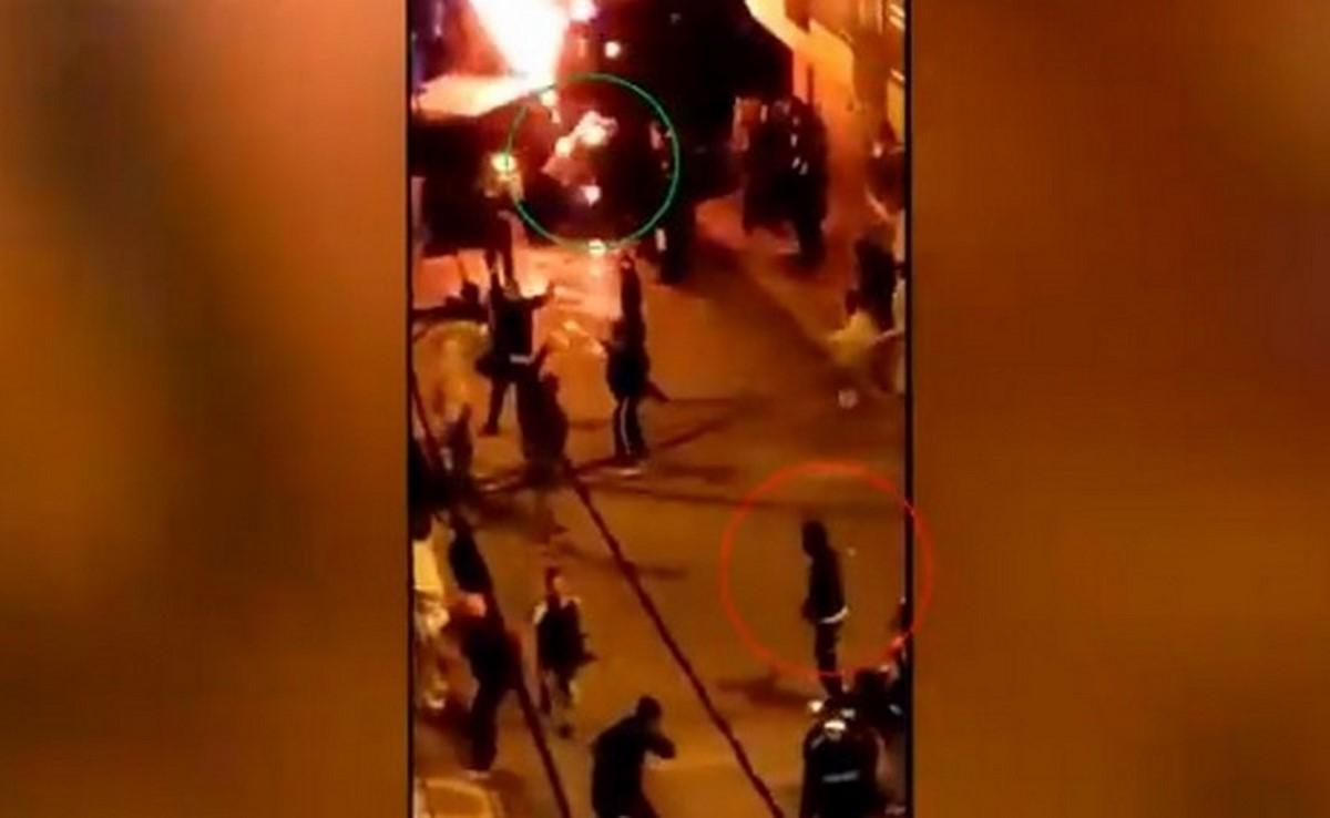 caldas policia quemado