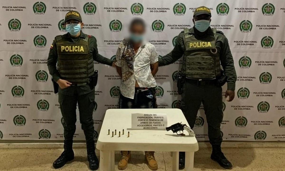 Capturado en Campamento por porte ilegal de armas de fuego