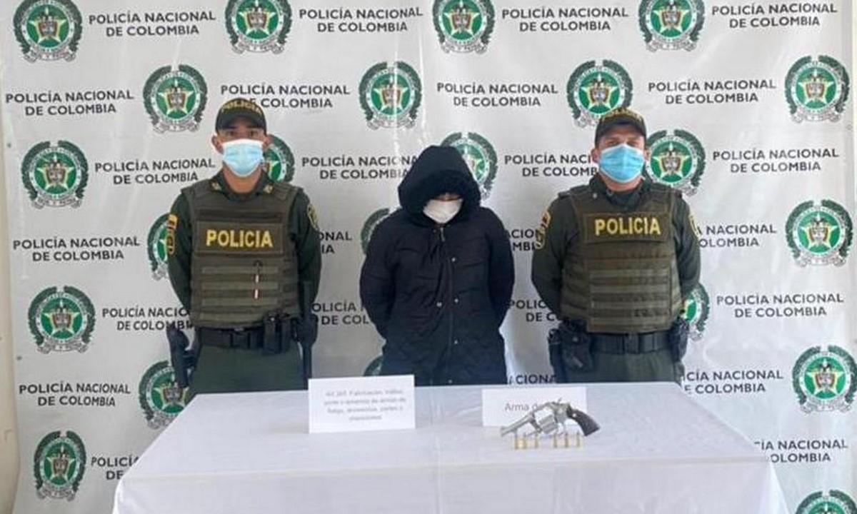 Capturado en La Ceja por llevar un revólver calibre 38