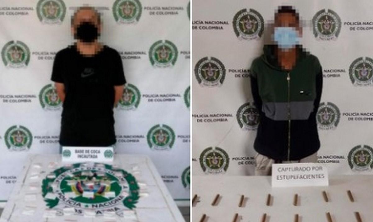 Los capturaron en Medellín con estupefacientes