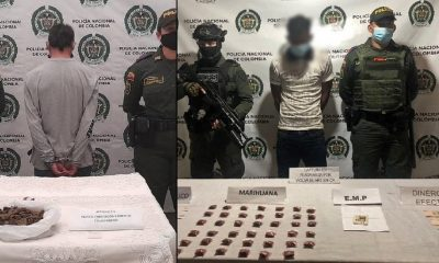 Capturaron a presuntos expendedores de droga en Antioquia