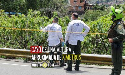 Hombre cayó a un afluente en la vía Medellín - Santa Elena y murió