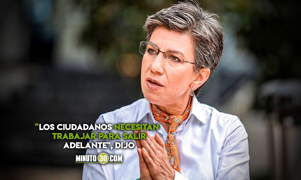 Claudia López anuncia reactivación de TODOS los sectores
