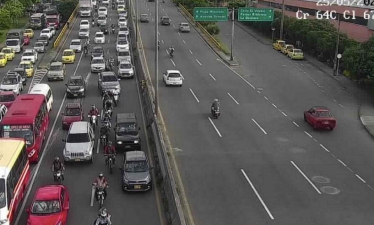 Así está la movilidad en Medellín