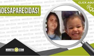 María Camila Carvajal Meneses y María Isabel Mosquera Carvajal están desaparecidas