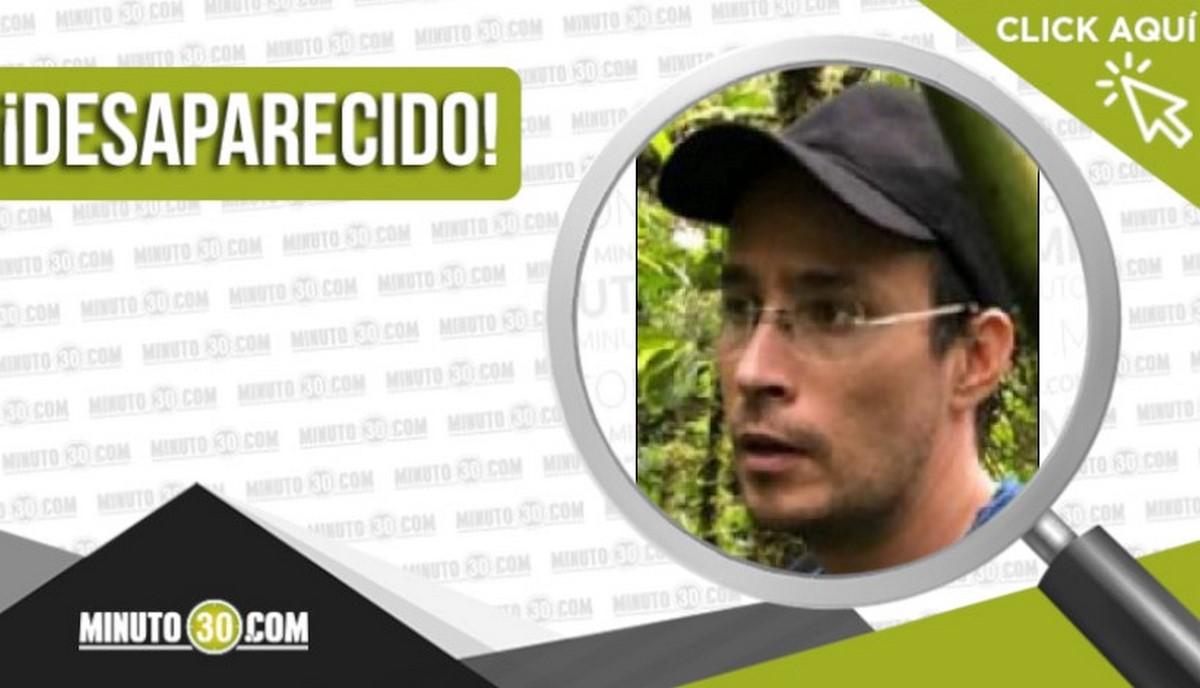 Sebastián Antonio Restrepo Sierra desaparecido