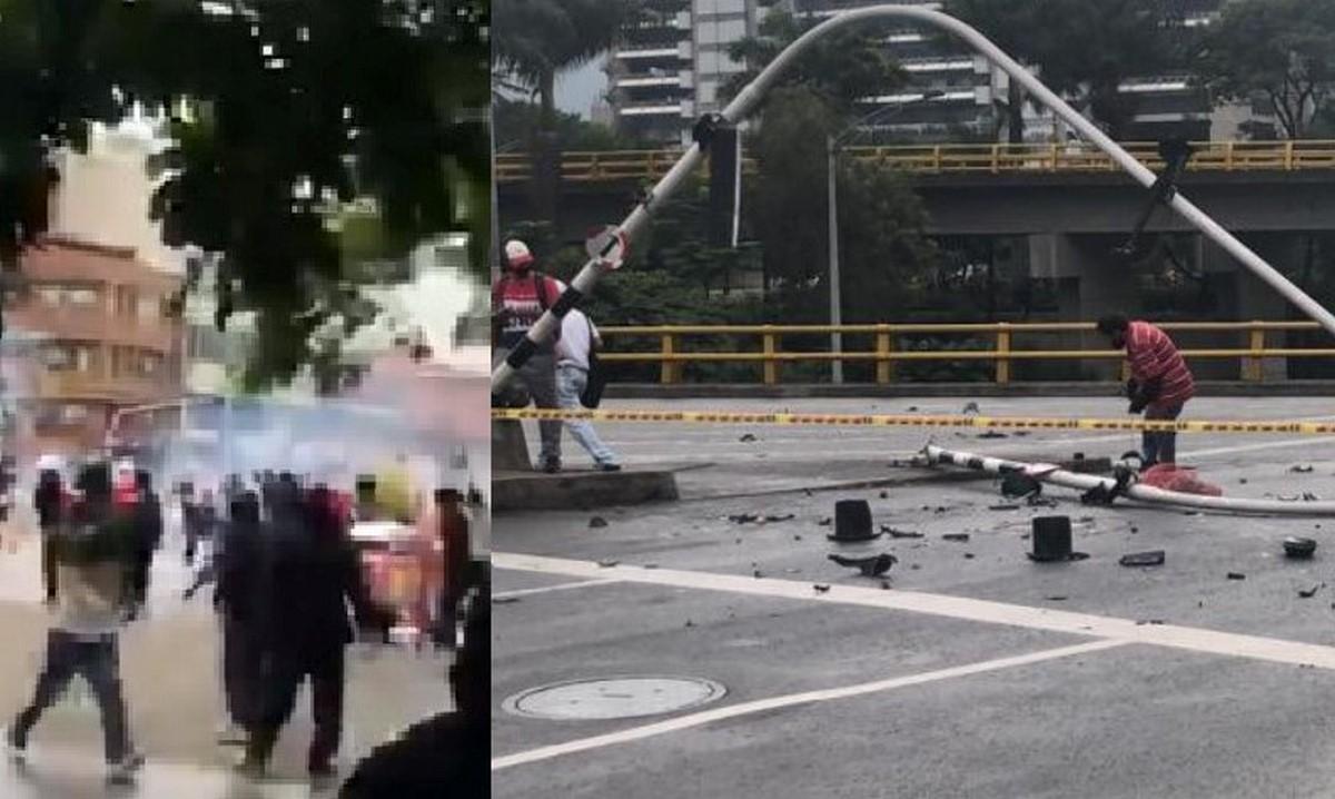 Disturbios en el centro de Medellín, así opera el Metro