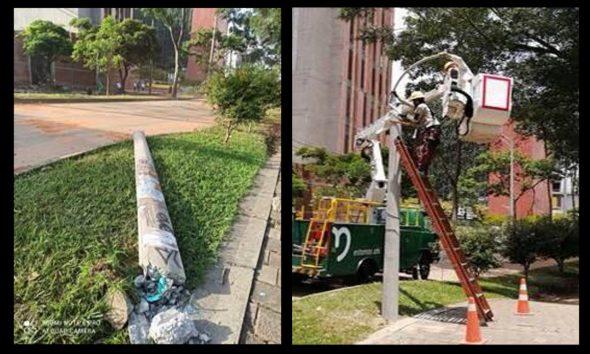 ¡Ya hay energía! Fue reestablecido el servicio de alumbrado público en el sector de Carabobo Norte en Medellín