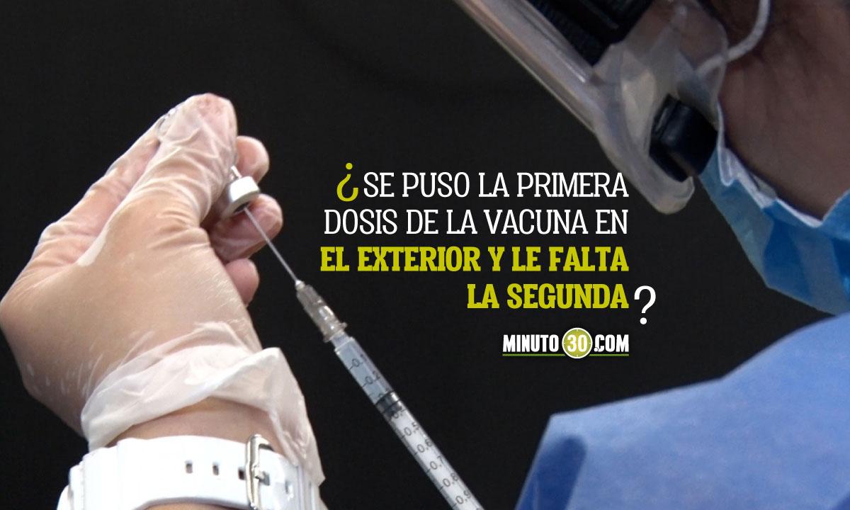 Colombia autoriza segundas dosis de la vacuna a los que se pusieron la primera en otro país