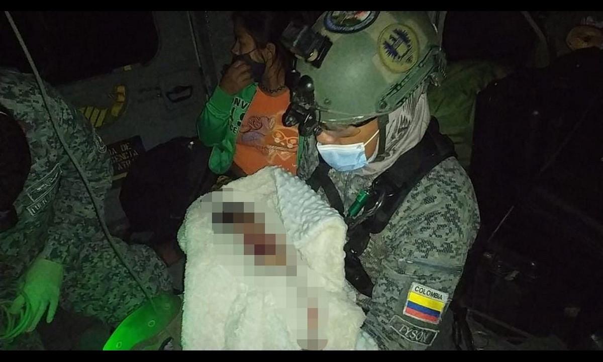 Fuerza Aérea rescata bebé indígena en Frontino