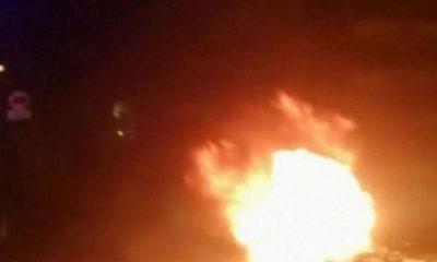fuego quemando